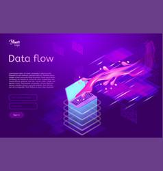 Data flow design concept isometric vector