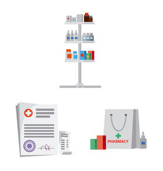 design of pharmacy and hospital sign vector image