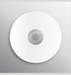 Empty cd cover design mockup template vector