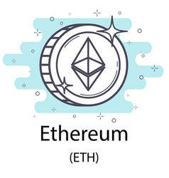 Ethereum outline coin vector