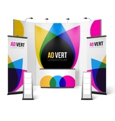 Exhibition stand color design vector