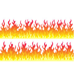 Fire flame frame borders vector