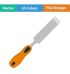 Flat design icon of chisel vector