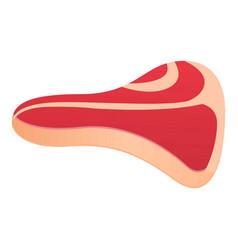 Fresh meat steak icon cartoon style vector