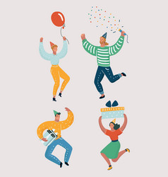 funny people dancing vector image