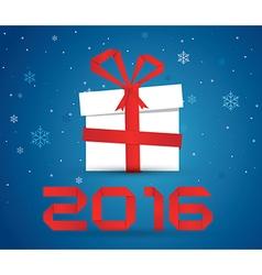 Gift box 2016 vector image