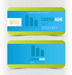 Gift card voucher business banner vector