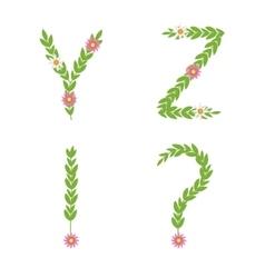 green letter set vector image