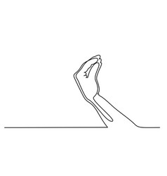 Hand with fingers folded in a pinch vector