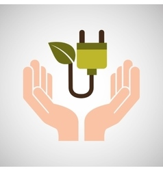 Hands care environment eco energy vector