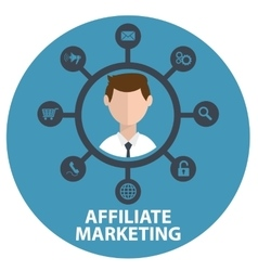 Icon of affiliate marketing vector