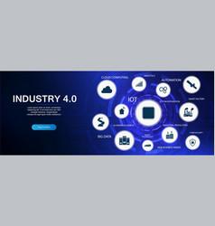 industry 40 industrial revolution vector image