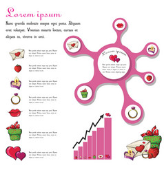 Infographics for love vector