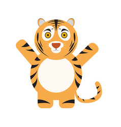 Isolated cute tiger vector