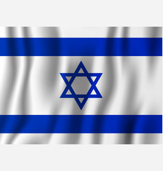 israel realistic waving flag national country vector image
