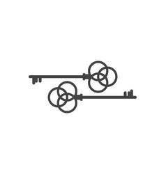 Key icon vector