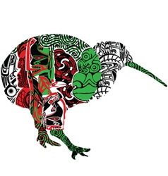 kiwi in ornament vector image