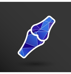 Knee joint sign icon bone knee health human vector image