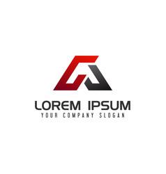 letter a logo auto design concept template vector image