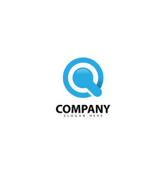 Letter q secure logo with lock icon vector
