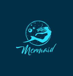 Mermaid logo design - modern design vector