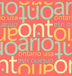 Ontario usa seamless pattern vector