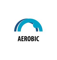 People fitness aerobic logo vector