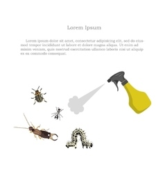 pest control figure garden pests and sprayer vector image