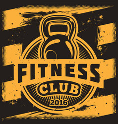 poster for a fitness center in the grunge style vector image