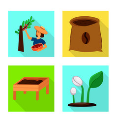 Process and farming icon vector