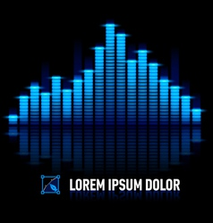 Pulse of music vector
