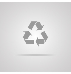 recycle sign or icon vector image