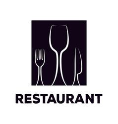 restaurant logo design inspiration vector image