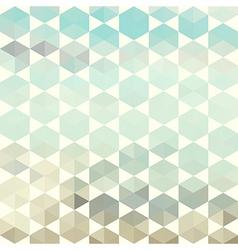 Retro pattern of geometric hexagon shapes vector