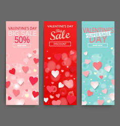 sale header for happy valentines day celebration vector image
