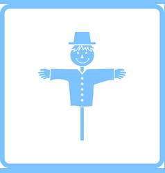Scarecrow icon vector