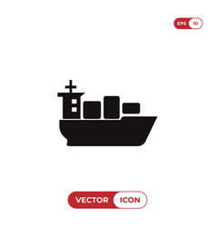 sea ship with containers icon vector image