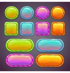 Set of bright funny buttons vector