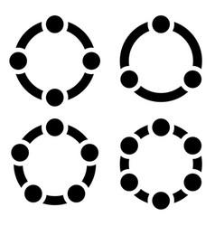 set of circular charts graphs diagrams 3456 steps vector image