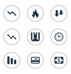 set of simple situation icons vector image