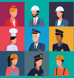 Set of workers profile vector