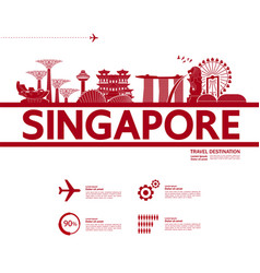 singapore travel destination vector image