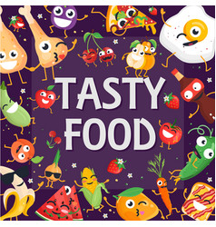Tasty food - modern colorful vector