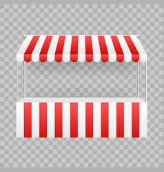 template shopping stand with red and white vector image