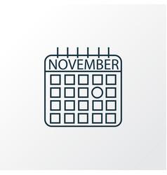thanksgiving day icon line symbol premium quality vector image