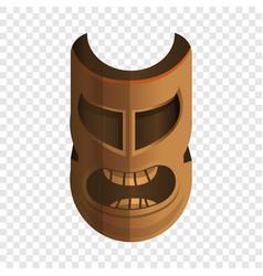 Tiki idol icon cartoon style vector