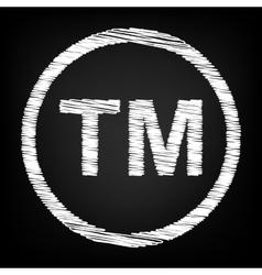 Trade mark sign vector image