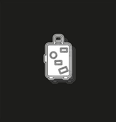 travel luggage icon - travel suitcase - bag or vector image