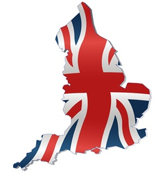 Uk map with british flag vector