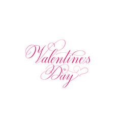 valentine day retro classic romantic ink design vector image